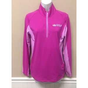 Adidas Climalite Pink NBC Golf Pullover Sweater